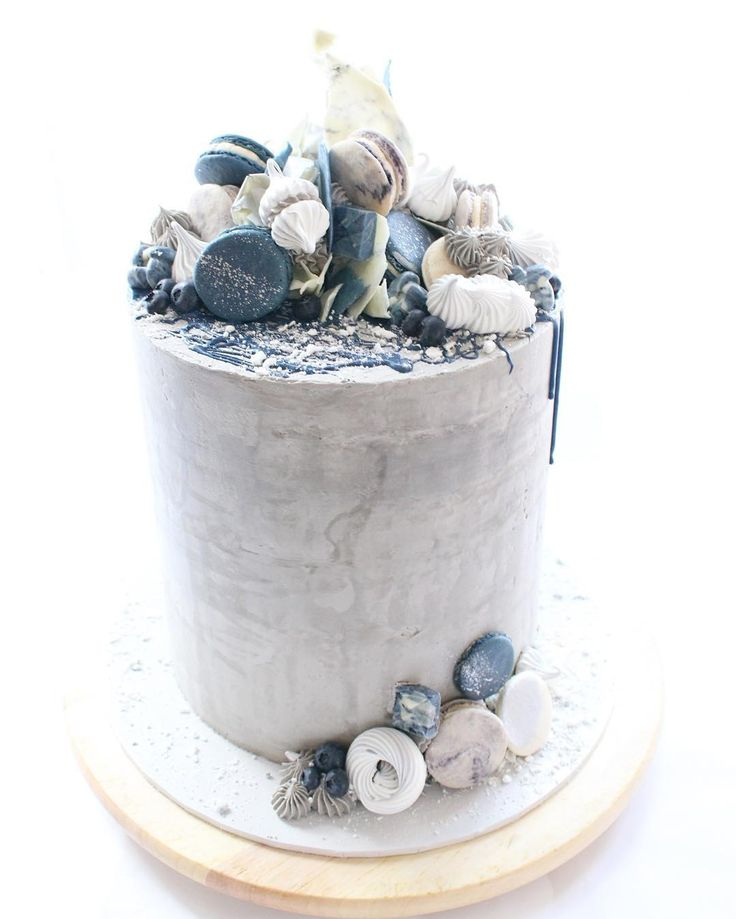 A Sweet Tale. SIDE VIEW |  A different angle on this tall concrete cake