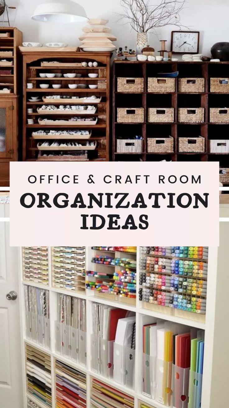 15 Stunning Office Craft Room Organization Ideas Craft Room