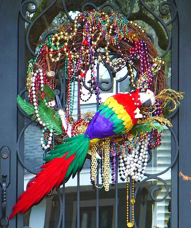 Fun and colorful Gasparilla wreath! Had this idea, glad I found it on Pinterest for my visual! Thanks!