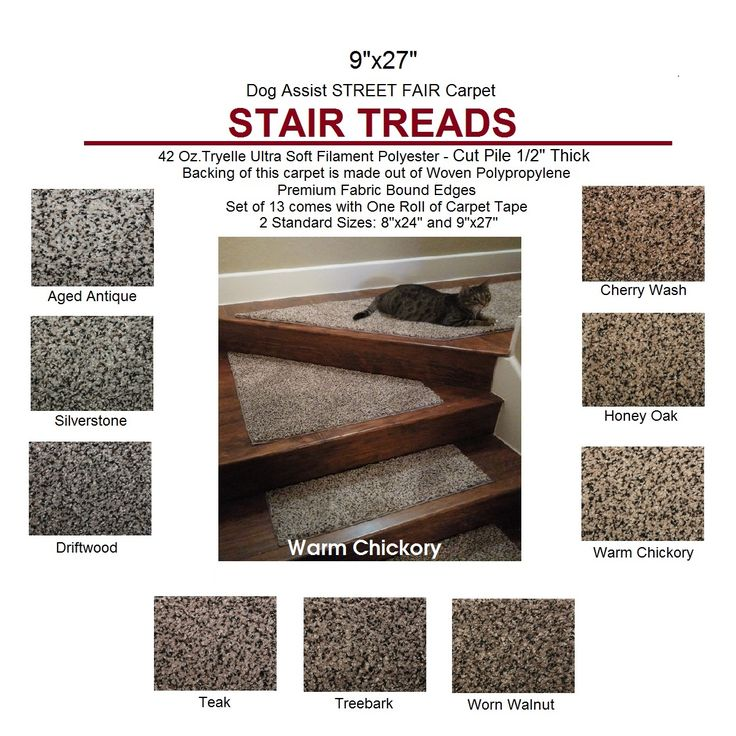 Street Fair II Pet ASSIST Carpet Stair Treads Can Extend The Life Of Your  Hardwood Stairs