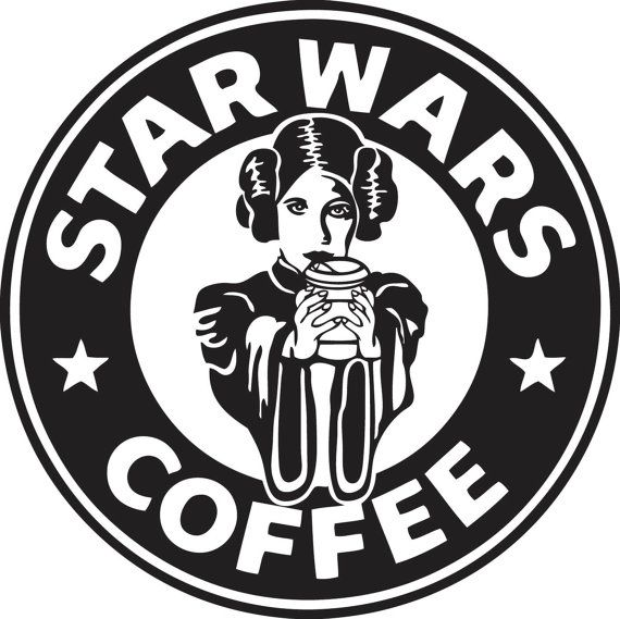 Coffee Star Wars Princess Leia Logo Decal Sticker by stickEdecals