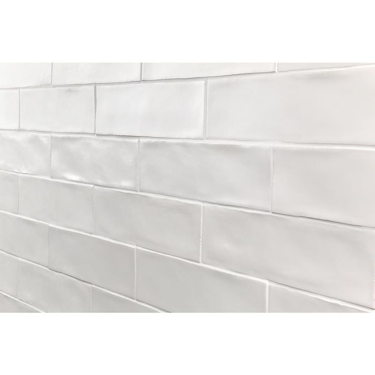 Ivy Hill Tile Strait White 3 in. x 12 in. 8 mm Polished Ceramic Subway Wall Tile (22 piece 5.38 sq. ft. / Box)-EXT3RD100756