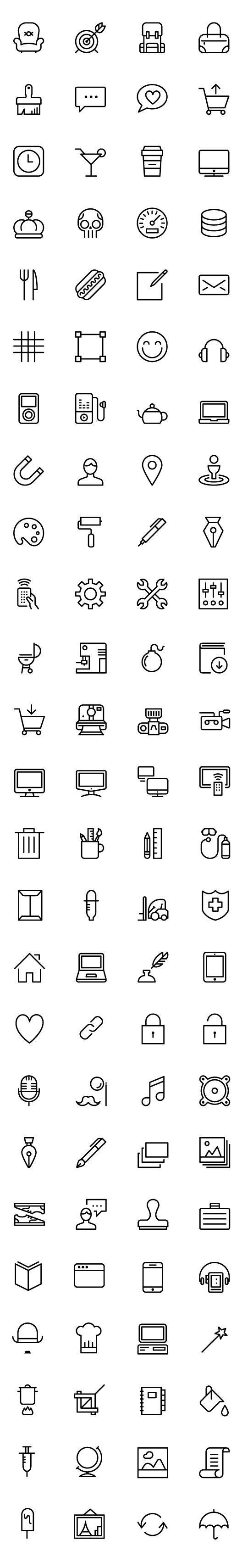 iOS 아이콘 디자인소스 100개 AI