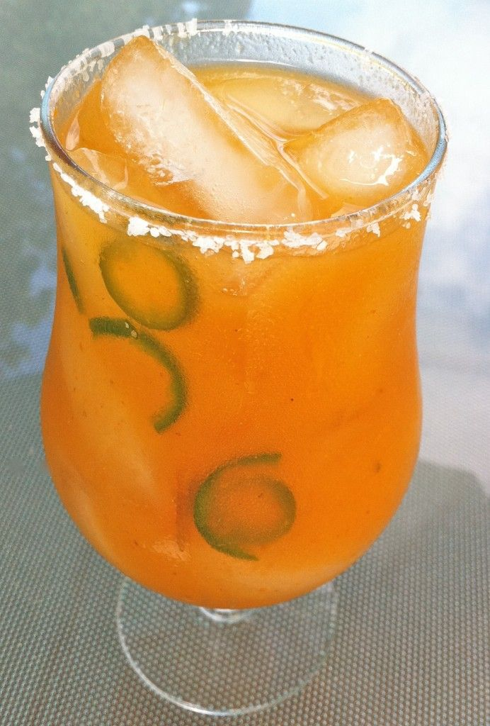 Persimmon & Jalapeño Cocktail | Food and Drinks | Pinterest