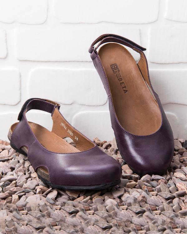 Beta Deri Kadin Sandalet Mor Beta Kadin Bayan Sandalet Modelleri Ve Fiyatlari Sandalet Kadin Mor