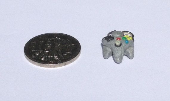 Nintendo 64 Grey Controller Charm by PolymerParrot on Etsy