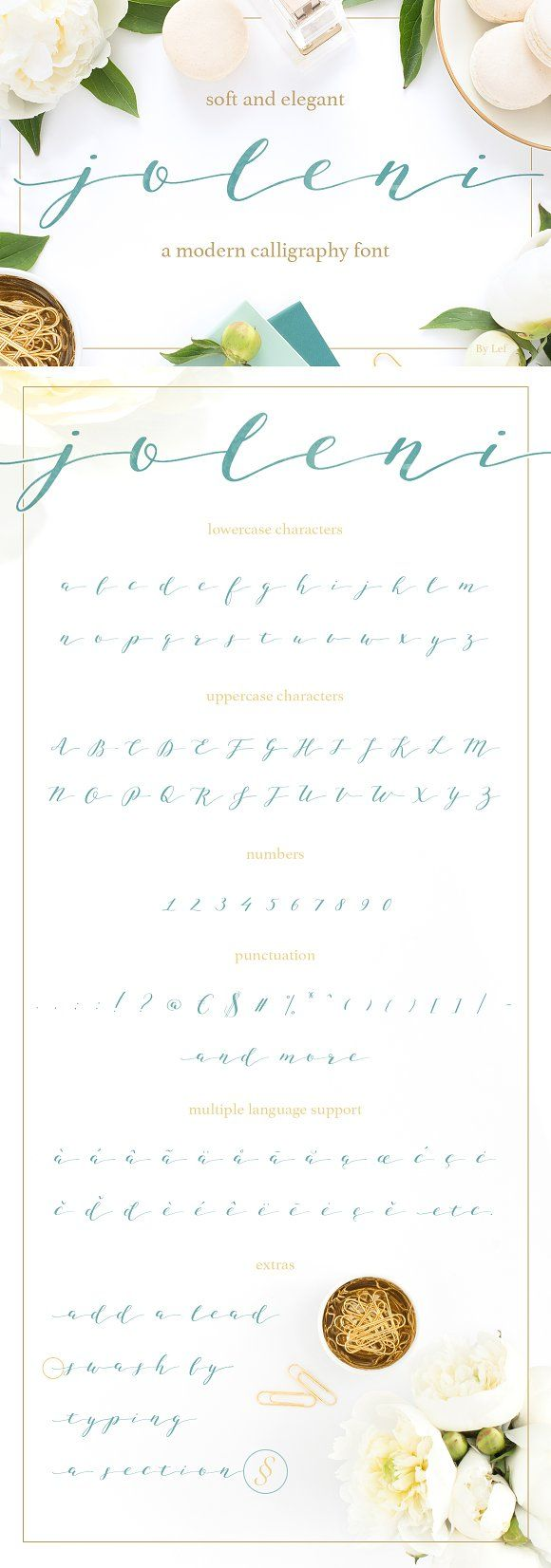 Joleni Font - Modern Calligraphy by By Lef on @creativemarket