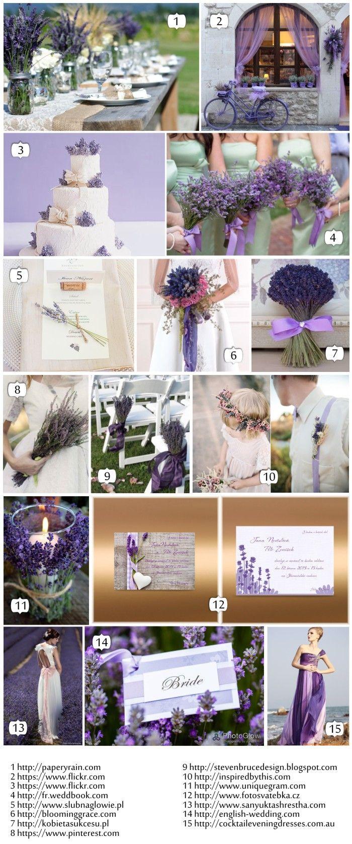 Levandulová svatba - inspirace