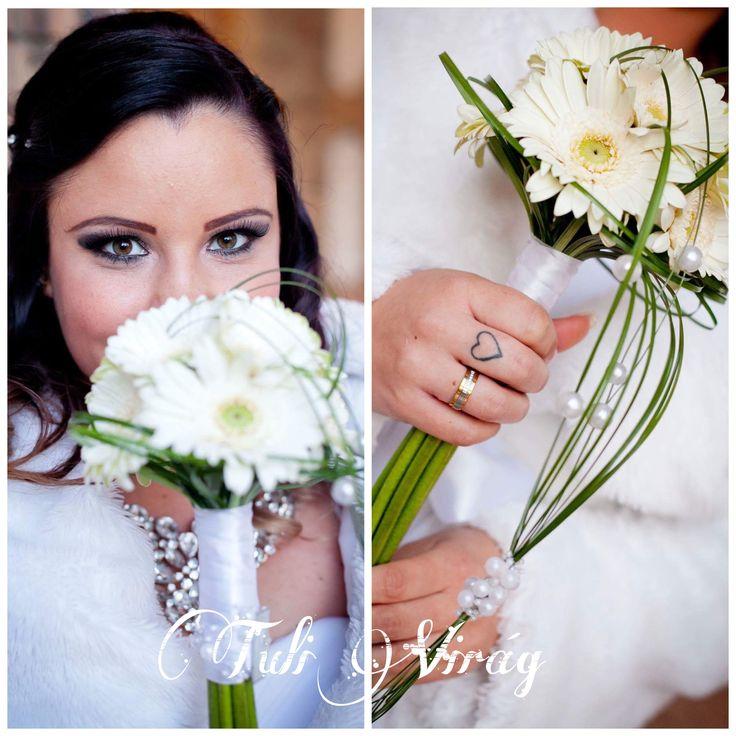 #wedding  #flowers #bouquett #gerbera