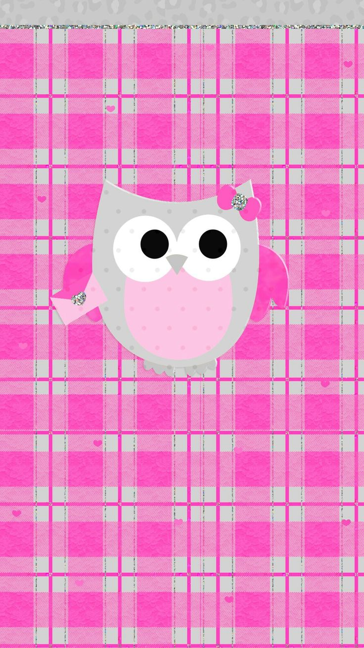 Pink owl wallpaper cute