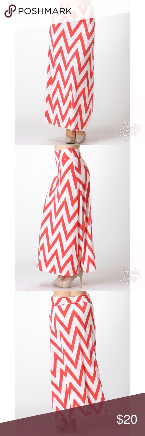 "🚨 JUST IN - limited 🚨 Chevron Maxi Skirt 🔥HOT 💃🏼 SEXY 👗 Maxi Skirt  LENGTH:  44""   The skirt is FOLDABLE from the waist.  95% Polyester, 5 % Spandex  🌊The material feels very fresh  Ships 1-2 business day, I AM A FAST SHIPPER 🛫 YES, these are the real pictures of the item 💁🏻 BRAND NEW merchandise only  MADE IN USA! 🇺🇸 Add it to bundle to save more 🤑 Skirts Maxi"