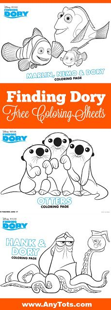 Finding Dory Free Printables: Finding Dory Coloring pages, Finding Dory Connect the Dots, Finding Dory Maze Game. Visit www.anytots.com for more Free Printable and Party Ideas.
