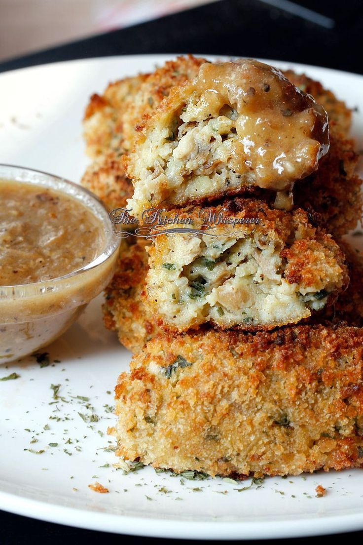Leftover mashed potato and roasted chicken recipe. Baked Chicken Croquettes