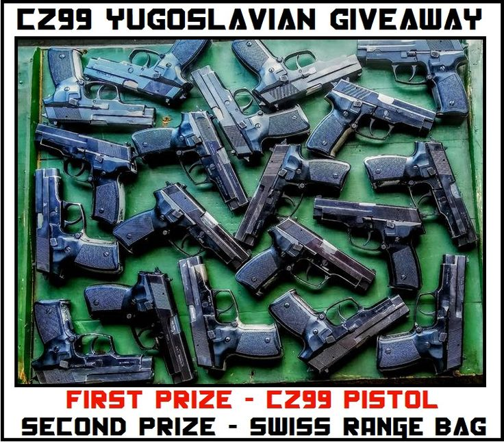 MrGunsNGear and TheMosinCrate youtube channels are giving away a CZ99 Yugo Surplus Pistol! No purchase required at all to sign up.