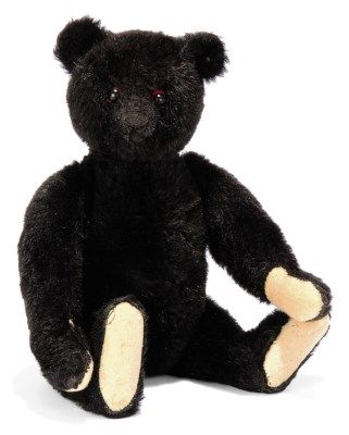 A STEIFF BLACK TEDDY BEAR, (53