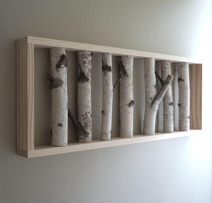 White Birch Forest Wall Art 36 X 12 Birch Branch Decor