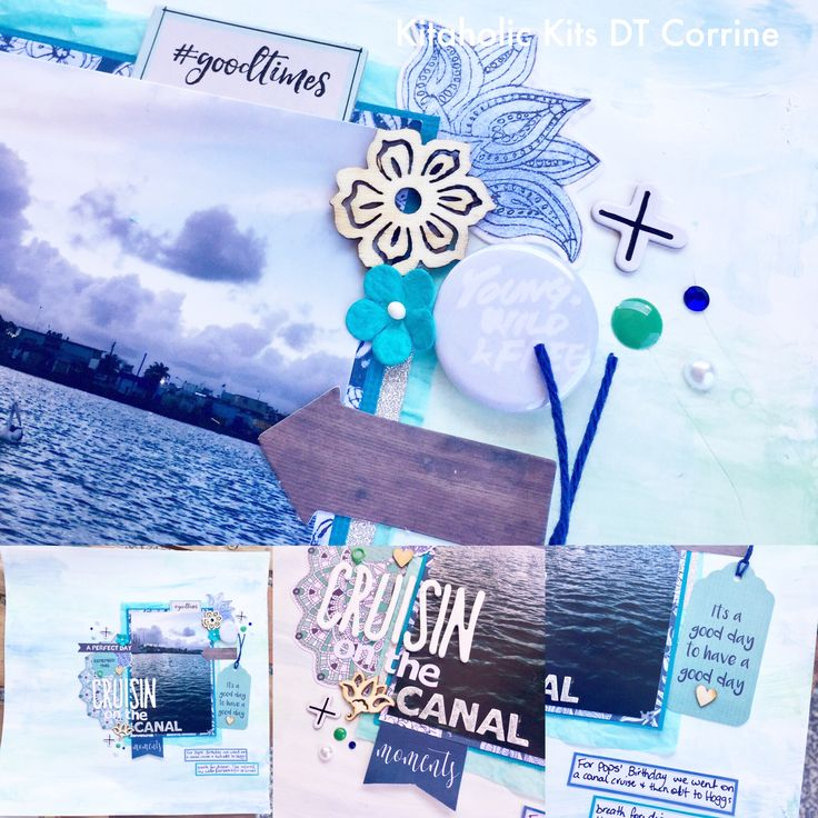 Hey guys, corrine back again today, this time with something a little different, A video! This layout is the first one I have made a YouTube video for. I copied the back ground of one of the kaiser paper as I liked both sides and didn't want to use the whole piece. I gessoed some white cardstock and used my blue and green distress crayons to lay down some paint stripes. I think it turned out pretty similar. I hope you all enjoy my video I had lots of fun making it and hope I can make more in…