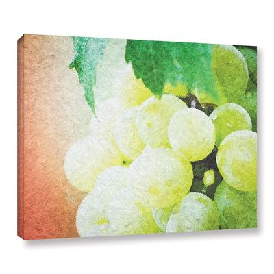 "Red Barrel Studio Planet of The Grapes Graphic Art on Wrapped Canvas Size: 14"" H x 18"" W x 2"" D"
