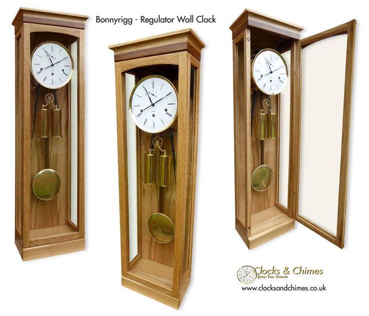 Bonnyrigg - Regulator style wall clock from Clocks & Chimes.  www.clocksandchimes.co.uk
