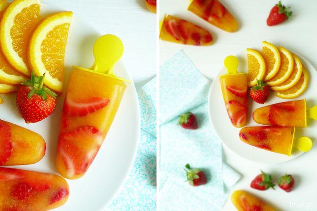 """Классика мировой кулинарии и немного домашней стряпни - Фруктовый лед """"Апельсин-Клубника"""""""