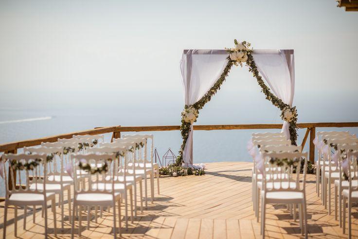 #wedding #ceremony | M&A Mykonos Weddings | www.mamykonosweddings.com