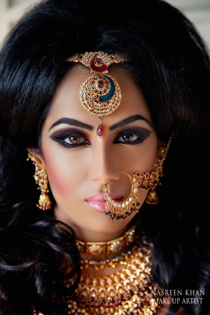 Worst makeup mistakes on your wedding indian bridal diaries - Desi Bridal Indian Bride Groom Wedding Photography Dulha Dulhan Www In Haven T You Just Always Wanted A Huge Eating Looking Thing Through Your Nose