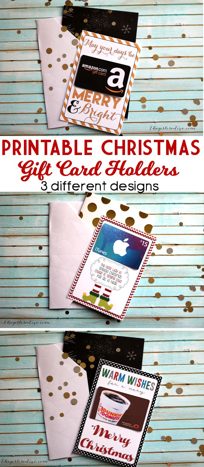 Gift card tree ideas pinterest - Free Printable Christmas Gift Card Holders Perfect For Neighbor Or Teacher Christmas Gifts