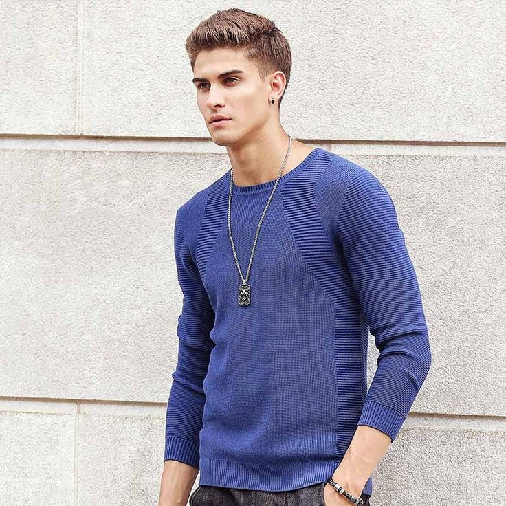sweater men Autumn Fashion Brand Casual Sweater Slim Fit Knitting Men