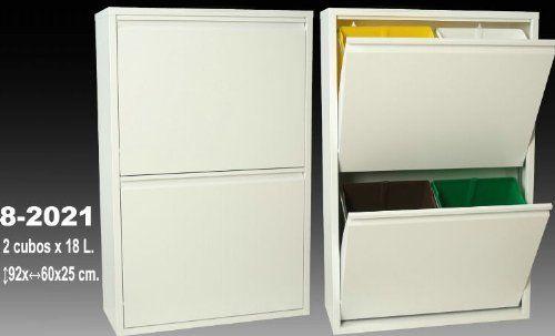 Suska - Papelera reciclaje con cuatro cubos suska 1020 - 8202120 - papelera reciclaje con cuatro cubos(92x60x25cm)