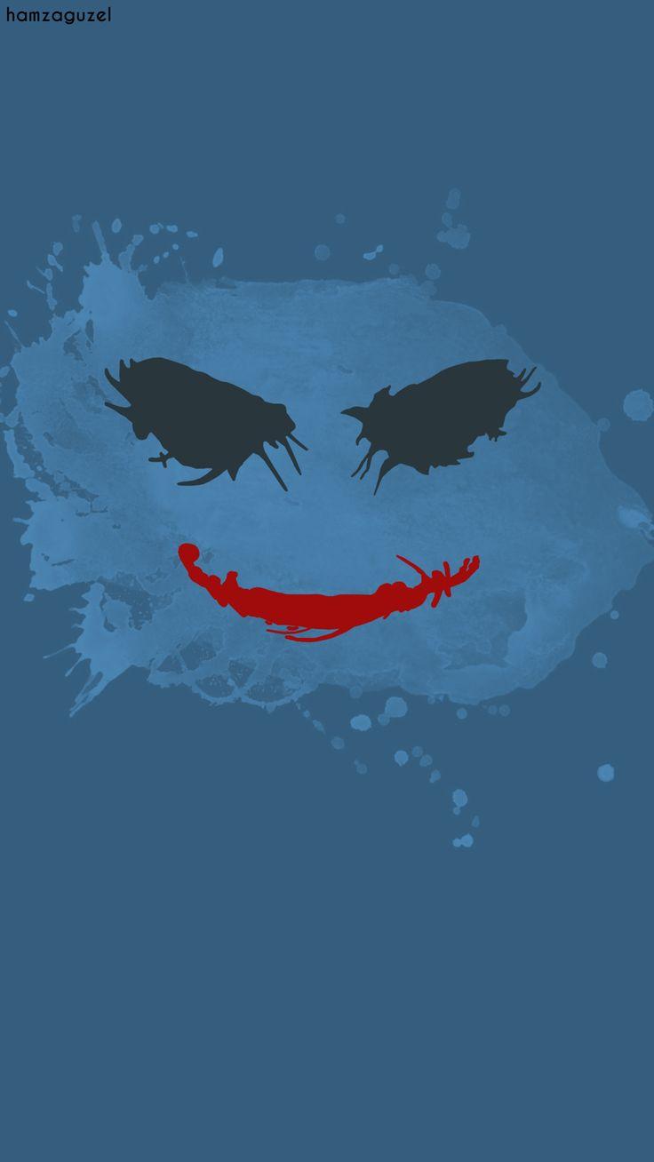 Joker | Minimalist wallpaper   Behance : behance.net/gallery/39105891/Joker-minimalist-wallpaper  #joker #minimalist #wallpaper #hamzaguzel #agackakanfani