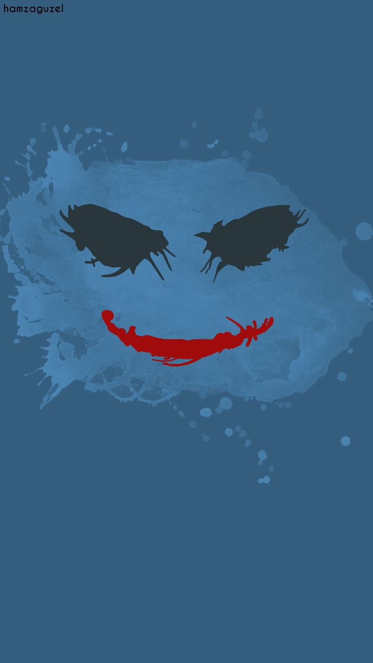 Joker | Minimalist wallpaper   Behance : behance.net/gallery/39105891/Joker-minimalist-wallpaper  #joker #minimalist #wallpaper #hamzaguzel #agackakanfani