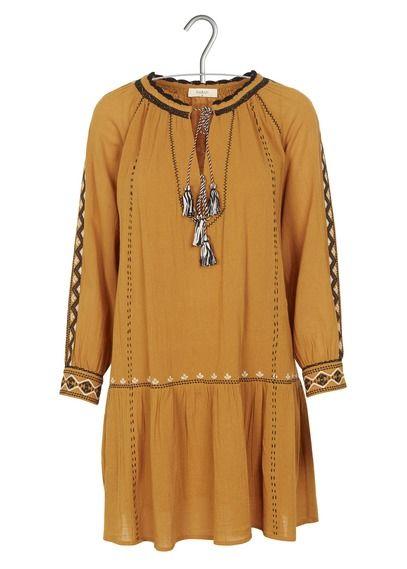 Robe Salma brodée jaune - BA&SH