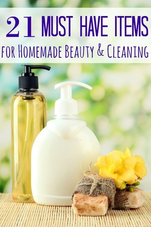 21 Must Have Items for Homemade Beauty + Cleaning - Have you ever just wanted a list of the items you will need to make your own homemade beauty products or homemade cleaning supplies? Want no more! These 21 must have items for homemade beauty and cleaning is just what you're looking for!