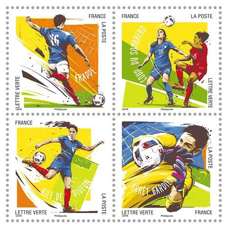 EURO 2016 Stamps FRANCE – Football Gestures 1