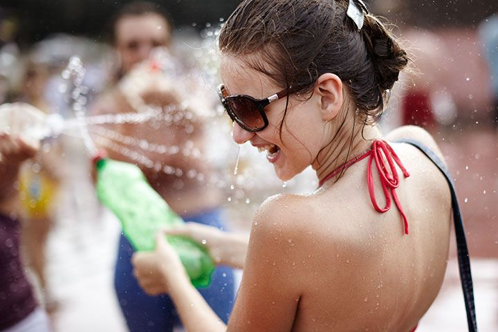 Winter Activities For Teenagers Water Fight