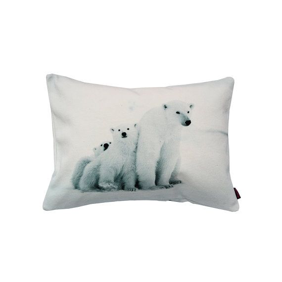 Handmade Designer Polar Bear Cushion by Textiler