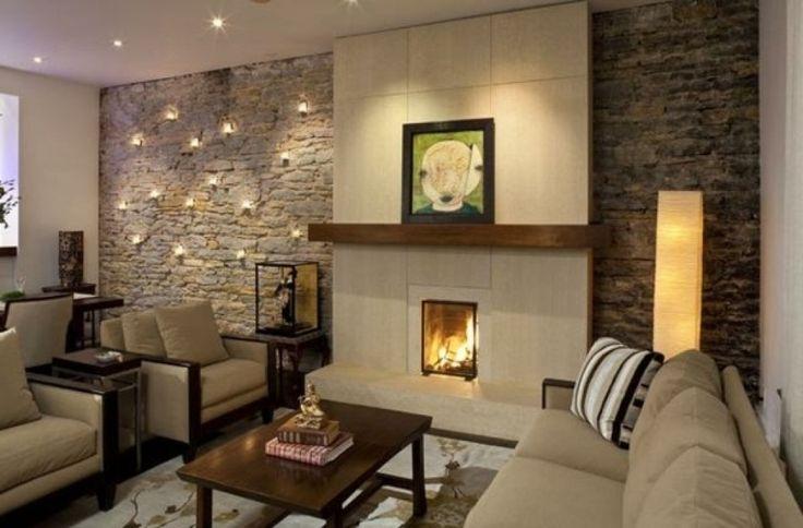 deko ideen furs wohnzimmer deko steinwand wohnzimmer and,