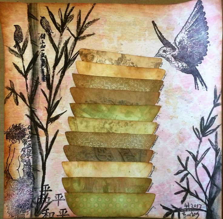 """Barbs Mey The Craftroom Mixed Media Collage """"Peace"""""""
