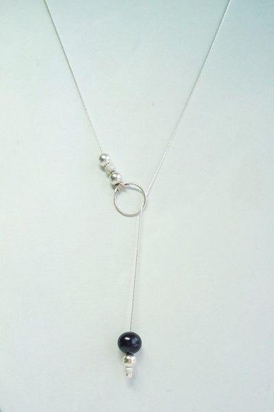 DIY silver necklace // un collier élégant et simple à faire.