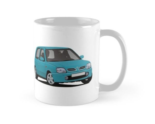 Supermini From Japan The Nissan Micra Of March From Late 90 S Printed On Coffee Mug And Other Gifts Nissanmicra Nissanmarch Nissa Nissan Nissan March Mugs