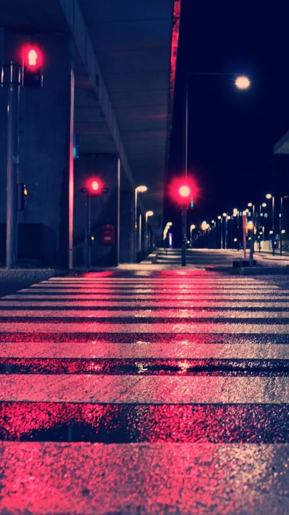 Iphone X 4k Wallpapers Night City Lights Street 4k Ca 750 1334
