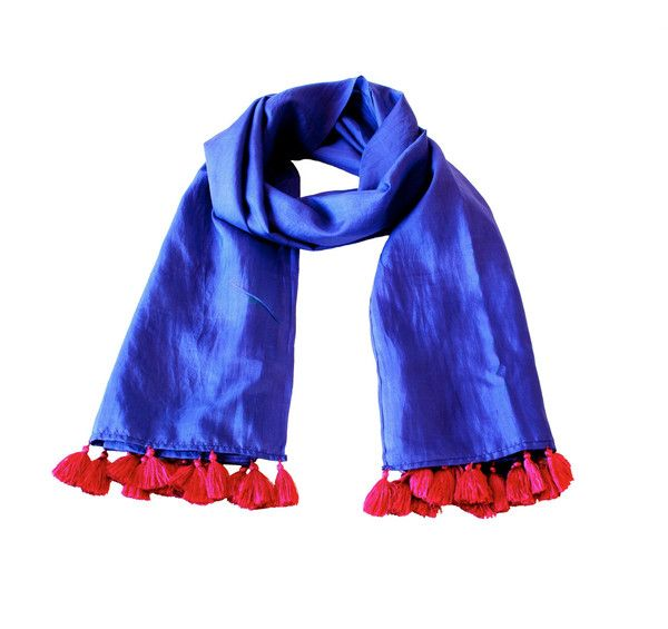 Made from luxurious hand-woven extra soft 100% silk with hand-knotted silk tassels, this scarf is a delight to wear in any time zone.