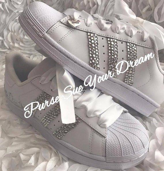 8e6ec30540c Swarovski Crystal Design Bridal Adidas Superstar Wedding Shoes ...