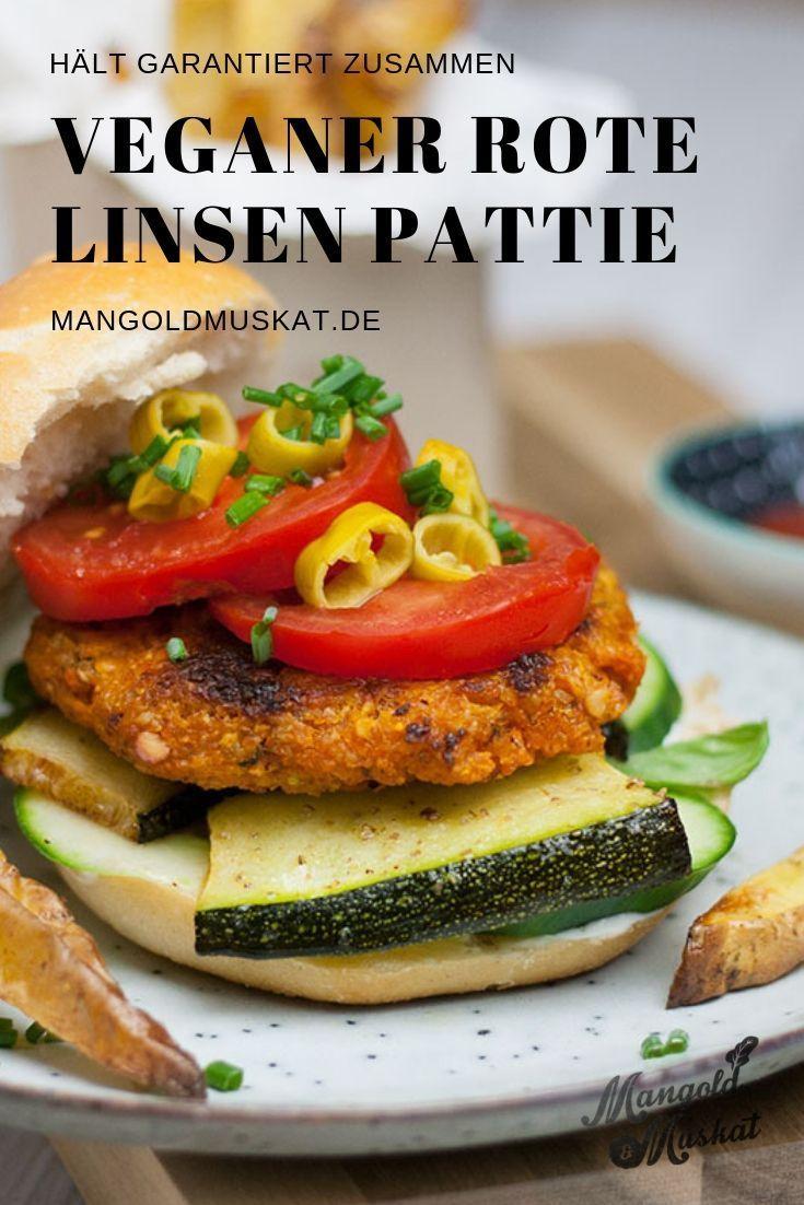 Veganer Burger Mit Linsenpatty Mangold Muskat Wenz Veganerezepte In 2020 Rezepte Essen Vegane
