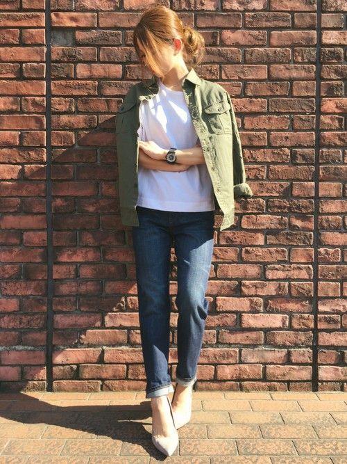 CANA│UNIQLOのシャツ・ブラウスコーディネート-WEAR
