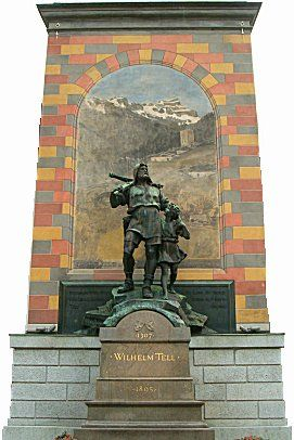 The Monument for William Tell, Swiss National Hero of Liberty ~ in Altdorf