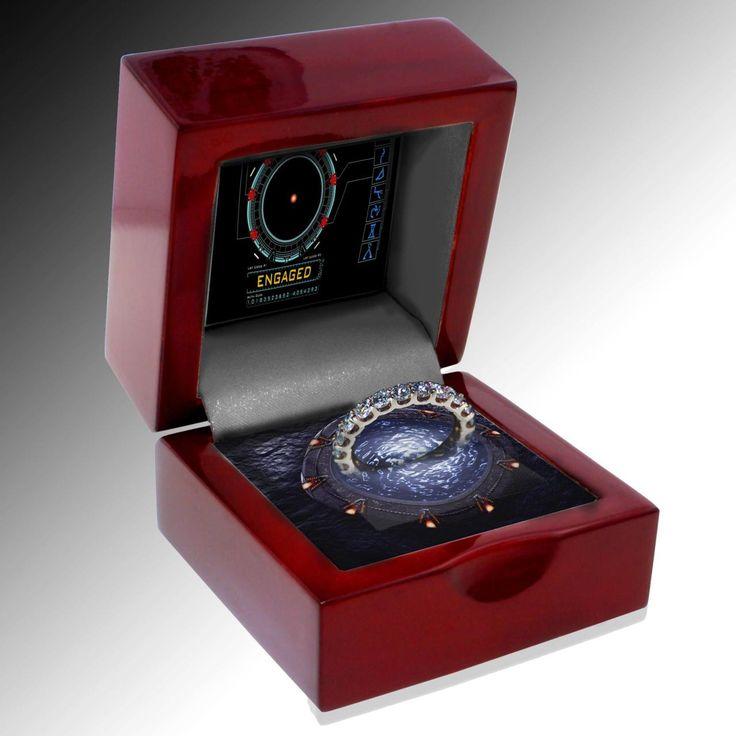 Stargate engagement ring: Engagement Rings Boxes, Wedding Propo, Dreams, Future Husband, Stargate Rings, Wedding Rings, Gates, Stargate Engagement, Interval Training