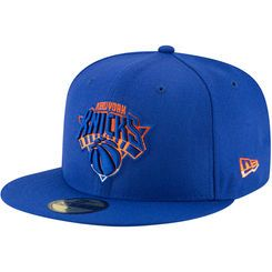 Men's New Era Blue New York Knicks Logo Grade 59FIFTY Structured Hat