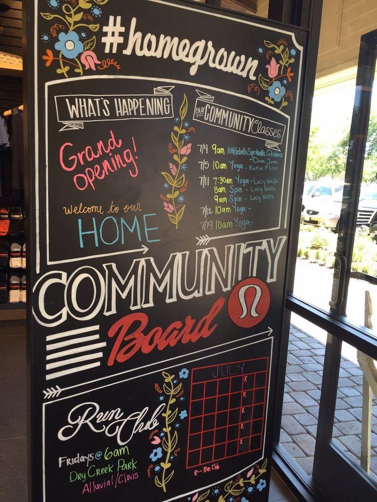 Lululemon Athletica - Fresno, CA, United States. Fun community board events