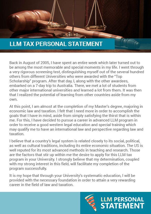 Sample personal statement LLM (llmstatement) on Pinterest